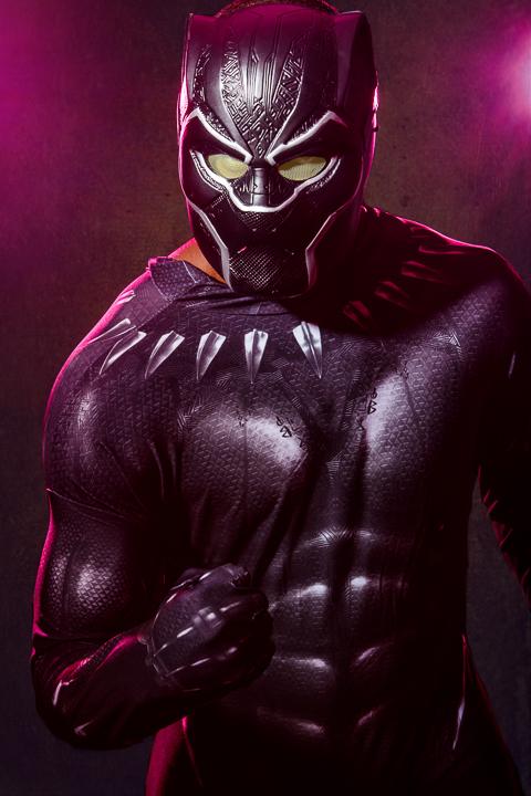 Nate as Black Panther